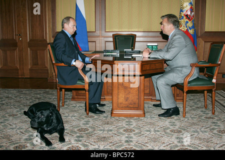Russian President Vladimir Putin holds a number of meetings May 17, 2006 - Stock Photo