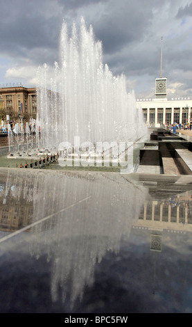 New fountain complex enhances Lenin Square, St. Petersburg - Stock Photo