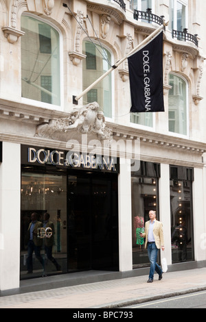 Dolce & Gabbana store, 24 Old Bond Street, London, England - Stock Photo