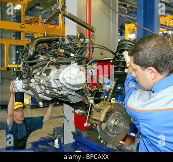 Samand cars assembled at Unison plant in Belarus - Stock Photo