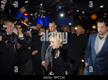 American pop singer Madonna arrives in Moscow - Stock Photo