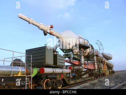 14th ISS crew to launch from Baikonur Cosmodrome - Stock Photo