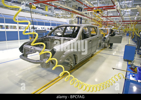 Severstal-Auto Company's ZMA plant assembles Rexton off-roader of South Korean SsangYong Motor Company - Stock Photo