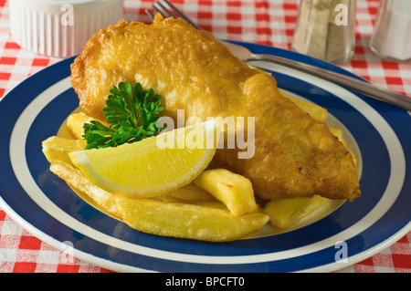 Fish and chips Traditional food UK - Stock Photo