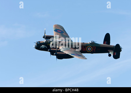 Avro 683 Lancaster bomber, B1 reg PA474, displaying at Sywell - Stock Photo