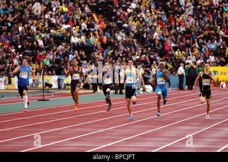 Robert TOBIN, 400m Heat B at Aviva London Grand Prix, Crystal Palace, London.  August 2010. - Stock Photo