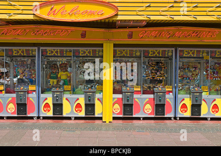 Gaming machines on the pavement, Clacton on Sea, United Kingdom - Stock Photo