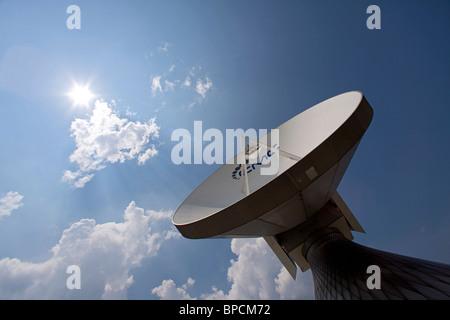 Erdfunkstelle Raisting, EMC Global Teleport Raisting, RAISTING, BAVARIA, GERMANY - Stock Photo