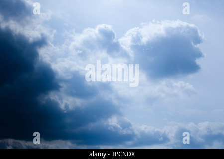 cumulonimbus cloud and blue sky - Stock Photo
