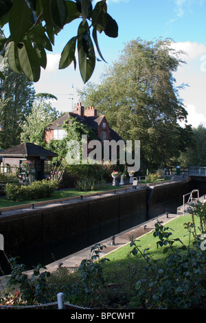Sonning Lock on the River Thames - Stock Photo