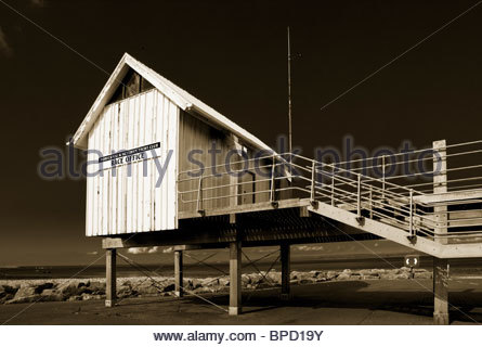 Morecambe & Heysham Yacht Club Race Office, Morecambe, Lancashire, England, UK. - Stock Photo
