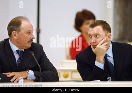 President Putin meets with Russian business leaders - Stock Photo
