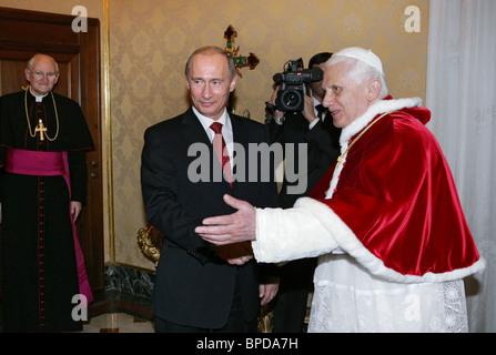 President Putin visits Italy - Stock Photo