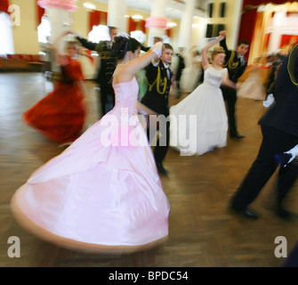 Russia's main cadet ball held in Moscow - Stock Photo