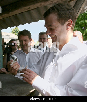 Russia's First Deputy PM Dmitry Medvedev on a visit to Kursk Region - Stock Photo