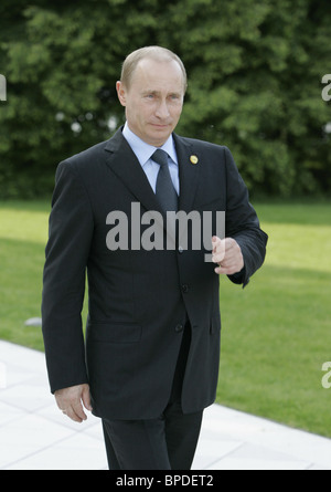 Russian President Vladimir Putin arrived for G8 summit in Germany - Stock Photo