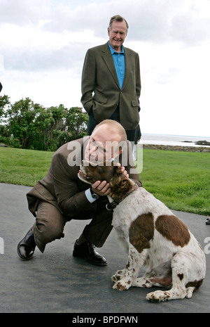 Russian President Vladimir Putin on a visit to USA - Stock Photo
