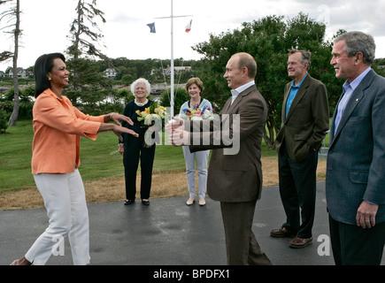 Russian President Vladimir Putin on a visit to USA - Stock Photo