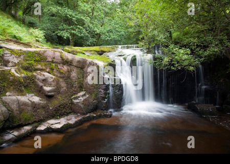 Blaen y Glyn; Brecon Beacons; waterfall - Stock Photo
