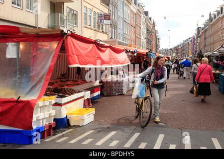 Albert Cuypmarkt, De Pijp in Amsterdam - Stock Photo