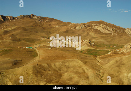 ,Azerbaijan, Small village in the countryside, northern mountainous azerbaijan close to Xinaliq - Stock Photo