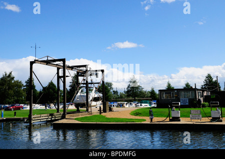 Marina on the River Great Ouse at Ely, Cambridgeshire, England, UK - Stock Photo