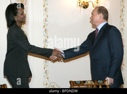 President Putin and US officials discuss missile defence plans - Stock Photo