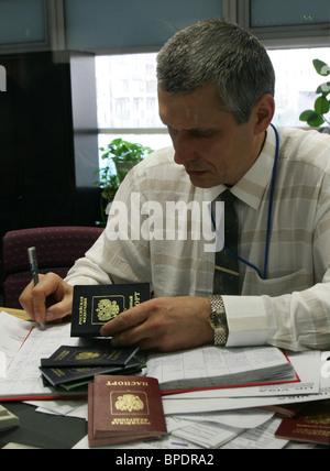 British embassy in Russia begins issuing biometric visas - Stock Photo