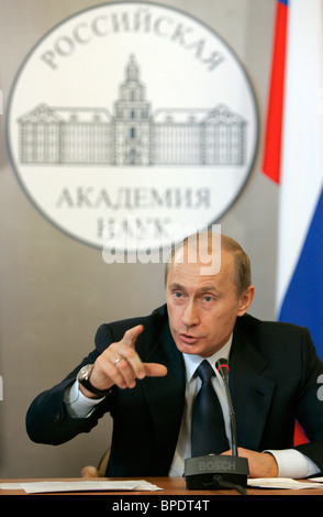 President Vladimir Putin presides over session of Council on Science, Technology and Education - Stock Photo