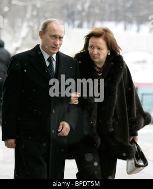 President Putin votes in parliamentary election - Stock Photo