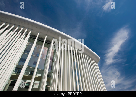 Luxembourg, Luxembourg City, Kirchberg Plateau. Philharmonie Luxembourg Grande-Duchese Josephine-Charlotte, concert - Stock Photo