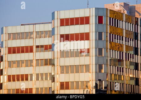 Luxembourg, Luxembourg City. Plateau de Kirchberg, European Parliament buildings. - Stock Photo