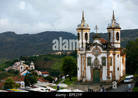 Sao Francisco de Assis church, Ouro Preto, Brazil. Stock Photo