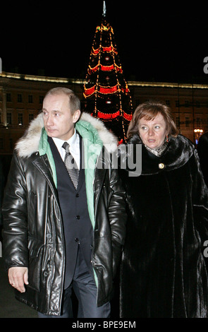 Russian President Vladimir Putin visits St Petersburg - Stock Photo