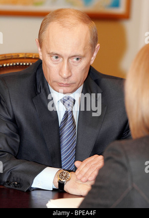 President Putin holds a number of meetings January 9, 2008 - Stock Photo