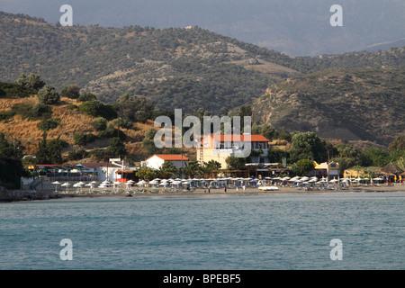 A View Of Agia Galini Beach Crete Greece In Summer