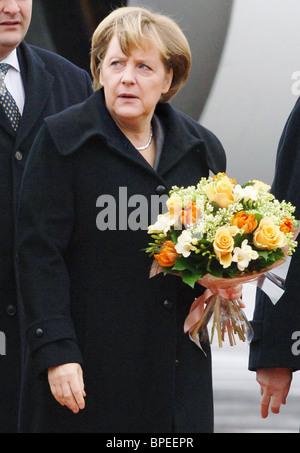 German Chancellor Angela Merkel visits Russia - Stock Photo