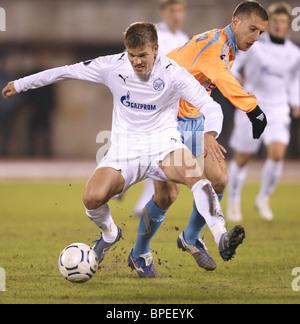 UEFA Cup match: Zenit St Petersburg 2-0 Marseille - Stock Photo