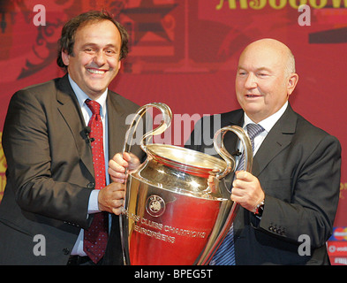 UEFA trophy handover ceremony in Moscow - Stock Photo