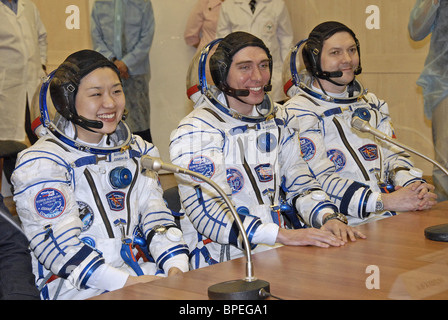 Expedition 17 crew launches from Baikonur Cosmodrome - Stock Photo