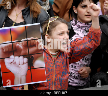 Armenian opposition protests continue - Stock Photo