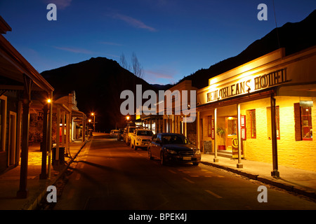 New Orleans Hotel (1866), Buckingham St, Arrowtown, near Queenstown, Otago, South Island, New Zealand - Stock Photo