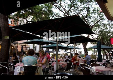 Dining in Funchal - Apolo Restaurant on Rua Dr Antonio Jose de Almeida - Stock Photo