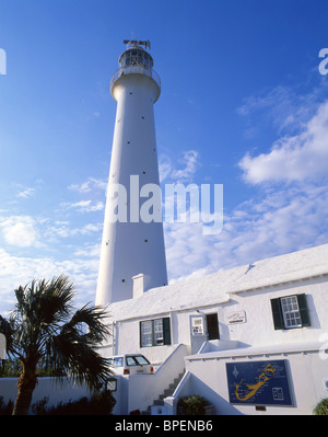 Lighthouse and tearooms, Gibb's Hill Lighthouse, Southampton Parish, Bermuda - Stock Photo
