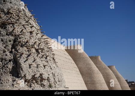 The Ark fortress in Bukhara, Uzbekistan. - Stock Photo