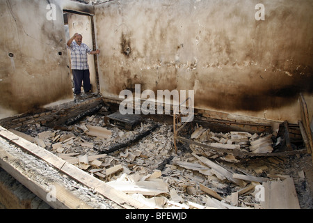 South Ossetian capital in ruins - Stock Photo