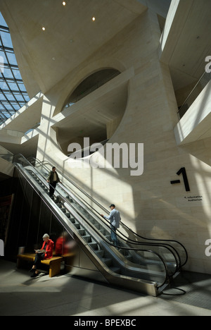 Foyer, basement, extension by star architect Ieoh Ming Pei, German Historical Museum, Unter den Linden, Berlin Mitte, - Stock Photo