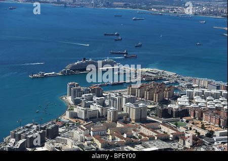 Hafen von Gibraltar, Habour of Gibraltar, Habor of Gibraltar - Stock Photo