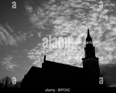 The Marienkirche (St. Mary's Church) in Berlin is a 14th-century Protestant church. February 2010 - Stock Photo