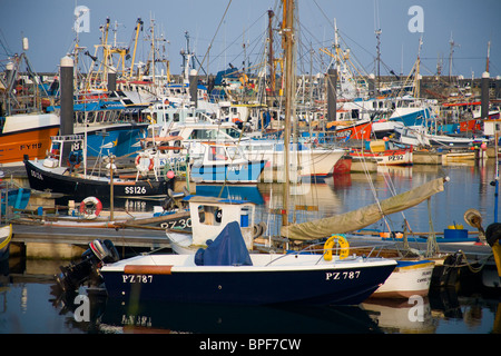 The fishing Port and Vessels in Newlyn Harbour, Penzance, Cornwall, UK - Stock Photo